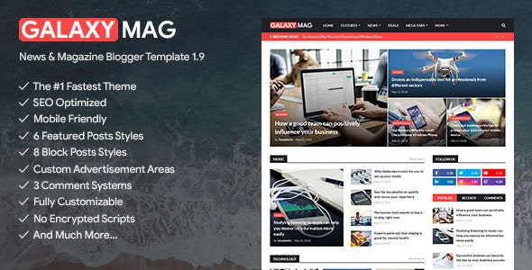 GalaxyMag - ResponsGalaxyMag - Responsive News & Magazine Blogger Template free download nulled Directoryive News & Magazine Blogger Template