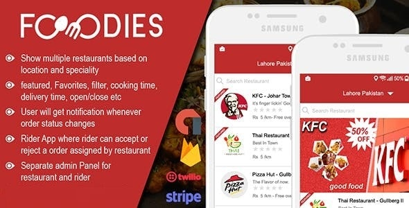 Native Restaurant Food Delivery & Ordering System With Delivery Boy - Android v2.0.6 Source code Free Download