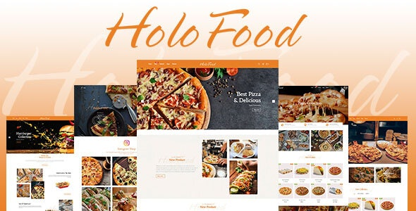HoloFood v1.0 - Fast Food & Restaurant Shopify Theme Free Download