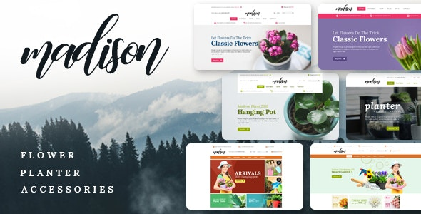 Madison - Flowers, Plant, Beauty, Gardening tools, Food store, Nursery Shopify Theme Free Download