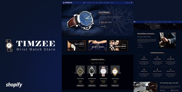 Time zee v1.0 - Shopify Watch Store, Dark Jewelry Theme Free Download