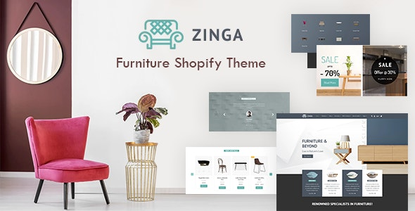 Zinga v1.0 - Interior Store, Furniture Shopify Theme Free Download