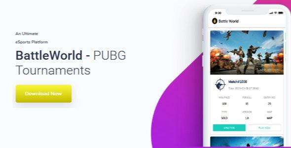 BattleWorld v4.0 - PUBG Tournament App Source Code with Admin Panel Free Download
