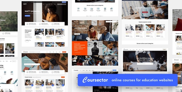 Coursector v1.3.1 - LMS Education WordPress Theme Free Download