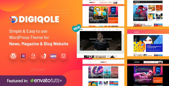 Digiqole v1.2.3 - News Magazine WordPress Theme Free Download