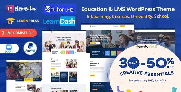Edubin v6.0.8- Education LMS WordPress Theme Free Download