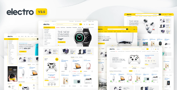 Electro v2.5.6 - Electronics Store WooCommerce Theme Free Download