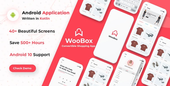 WooBox v11.0 - WooCommerce Android App E-commerce Full Mobile App Sourcecode Free Download
