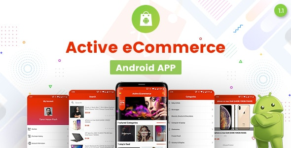 Active eCommerce Android App v1.0 Source code Free Download