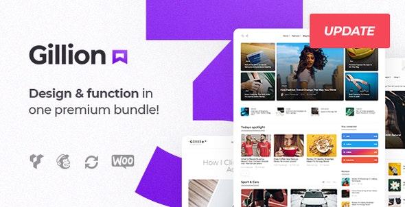 Gillion Multi v3.6.0 - Concept Blog/Magazine & Shop WordPress Theme Free Download
