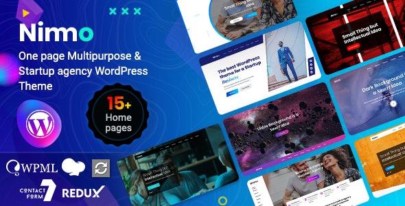 Nimmo v1.1.9 - One page WordPress Theme Free Download