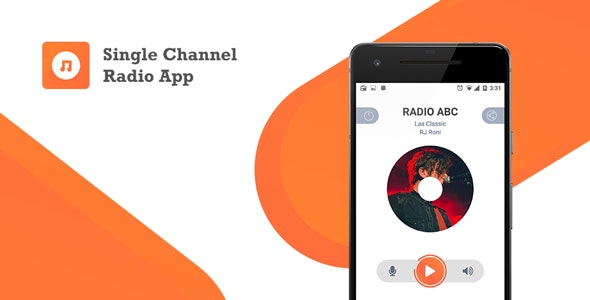 Single Channel Streaming Radio Application with Dynamic Backend v1.0 Source code Free Download