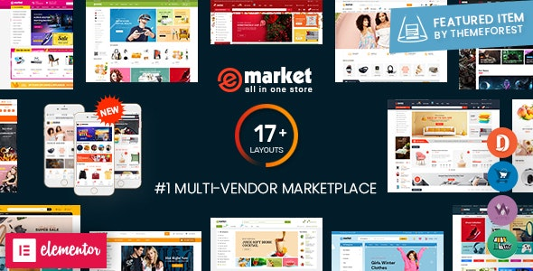 eMarket v2.6.1 - Multi Vendor MarketPlace WordPress Theme Free Download