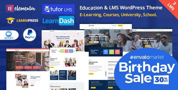 Edubin v6.3.2 - Education LMS WordPress Theme Free Download