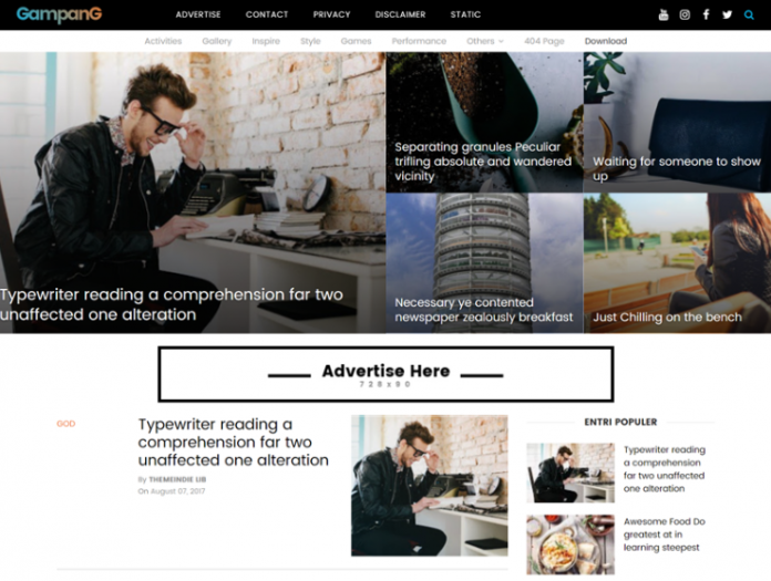 Gampang - Clean and Responsive Blogger Template Free Download