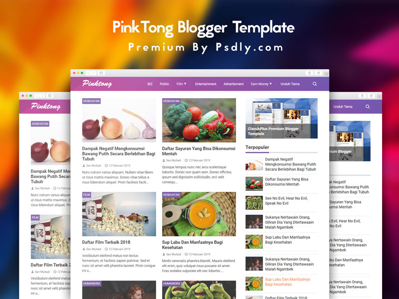 PinkTong - Template Blogger High Speed Free Download