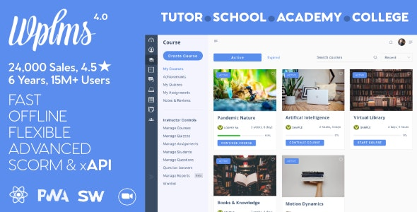 WPLMS v4.070- Learning Management System for WordPress, Education Theme Free Download